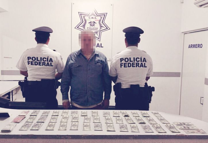 El hombre llevaba dólares canadienses, americanos y miles de pesos argentinos. (Foto: Redacción)