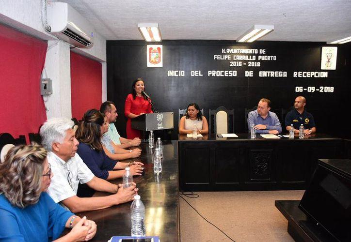 Paoly Perera Maldonado entregará el Ayuntamiento con un millonario adeudo. (Daniel Tejada/SIPSE)