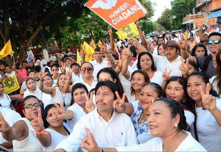 Magna concentración en la Cancha Maya, donde inició la historia de Tulum. (Cortesía)