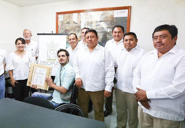 Presentan logotipo de la Junta Intermunicipal Biocultural del Puuc, quien es la instancia responsable del cuidado de estas zonas. (Milenio Novedades)