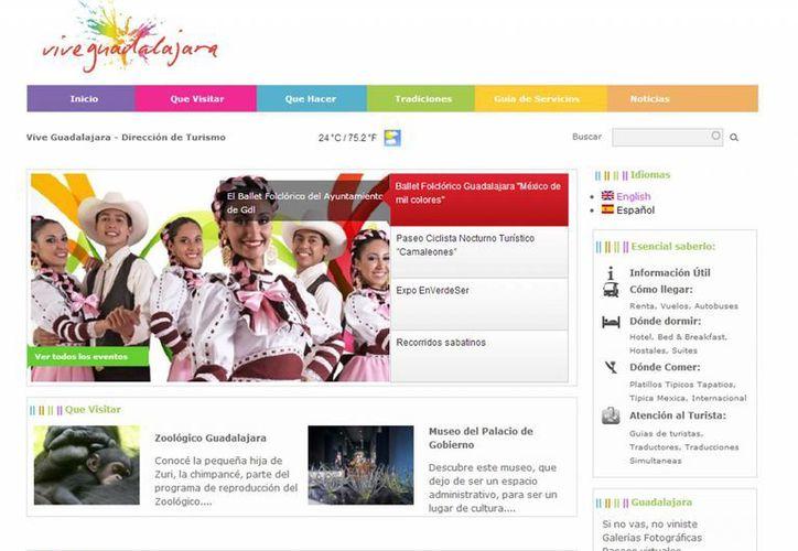 En el sitio www.vive.guadalajara.gob.mx aparecían negocios vinculados con el narcotraficante. (Captura de pantalla)