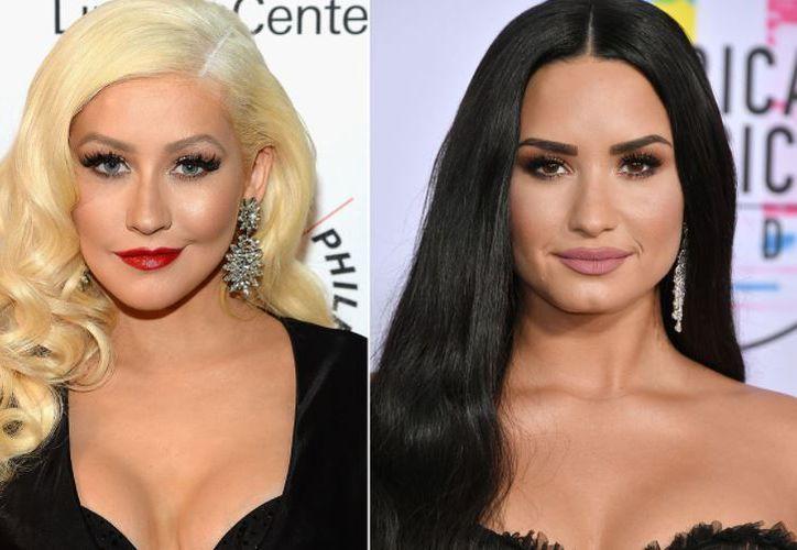 Aguilera y Lovato presentarán 'Fall in line', durante la ceremonia de los Premios Billboard. (People)