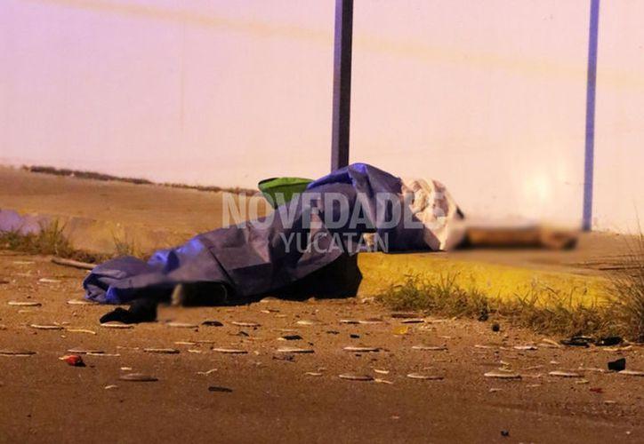 El motociclista falleció instantáneamente. (Novedades Yucatán)