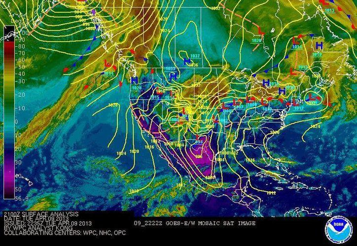Soplarán vientos de componente oriental de 20 a 40 km/h. (Cortesía/SIPSE)