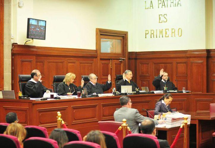 Imagen de una sesión en la Suprema Corte de Justicia de la Nación. (Archivo/SIPSE)