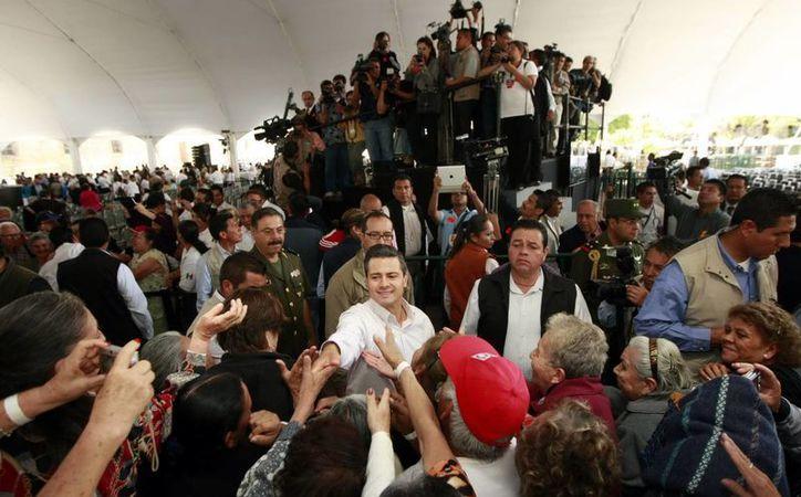 El pasado jueves 7 de marzo, el presidente Enrique Peña Nieto presentó el programa de pensión para adultos mayores de 65 años. (Archivo/Notimex)