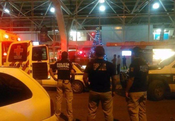 Elementos de varias corporaciones policíacas participaron en el operativo. (Redacción/SIPSE)