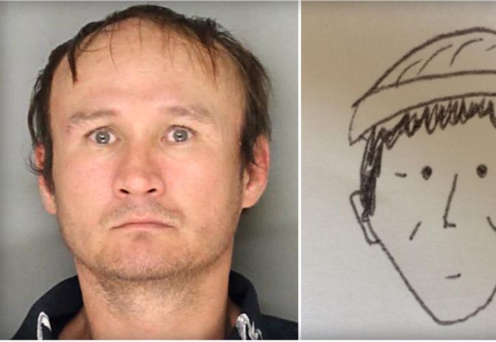 El rostro del delincuente fue dibujado por uno de los testigos del establecimiento en el cual robó. (Foto: CBS News).