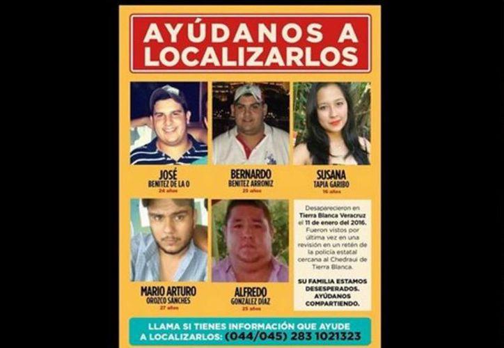 Los familiares de los jóvenes que desaparecieron en Veracruz declararon no saben nada de ellos desde el 11 de enero. (Twitter/@OnceNoticiasTV)
