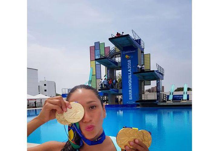 Achach ganó cinco preseas doradas en los pasados Juegos Centroamericanos y del Caribe en Colombia.