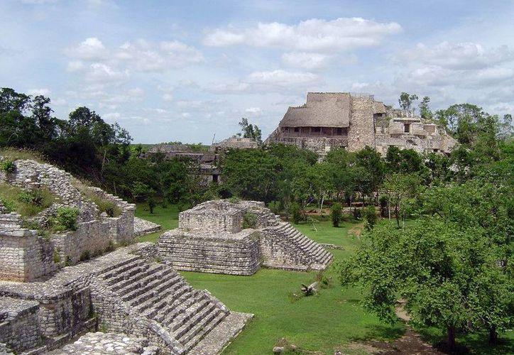 Zona arqueológica de Ek Balam, al oriente de Yucatán. (Milenio Novedades)