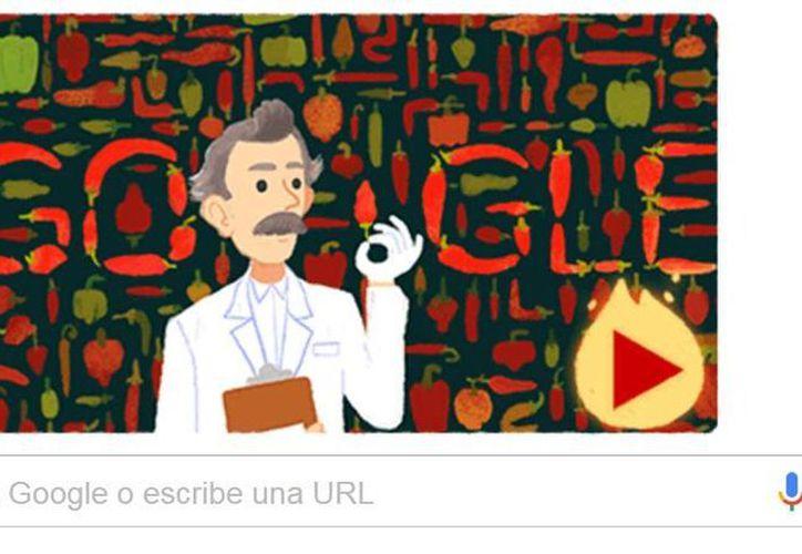 Google recuerda al científico Wilbur Lincoln Scoville con un 'Doodle' interactivo en el que puedes aprender acerca de las propiedades del chile y el pimiento.(Captura de pantalla)