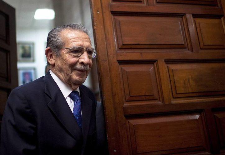 Ríos Montt cumple condena a 80 años de prisión por genocidio y crímenes de lesa humanidad. (EFE)
