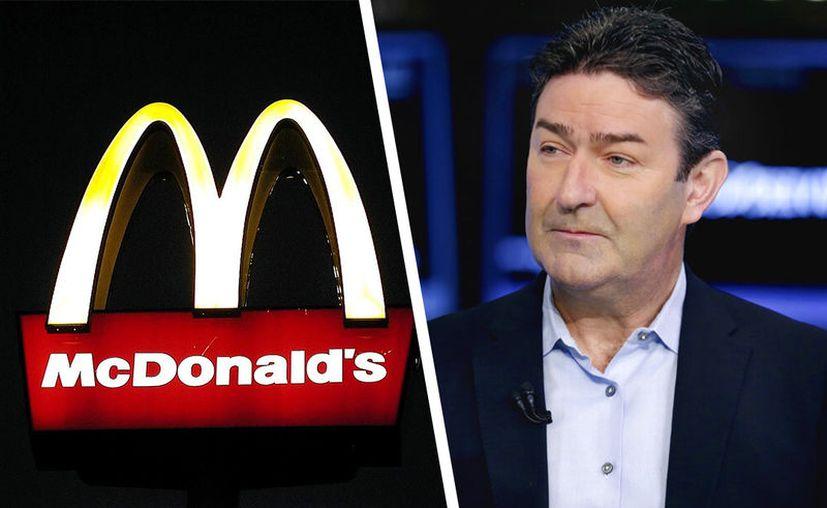Steve Easterbrook, entonces CEO de McDonald's, en Nueva York el 26 de julio del 2017. (Foto: Pixabay y Richard Drew)