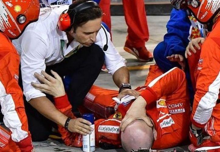 El mecánico de Ferrari fue operado con éxito luego del accidente. (Foto: El Comercio)