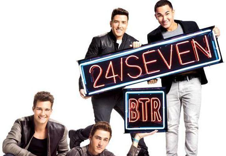 Big Time Rush promueve su tercera producción discográgica '24/Seven'. (btr-media.com)