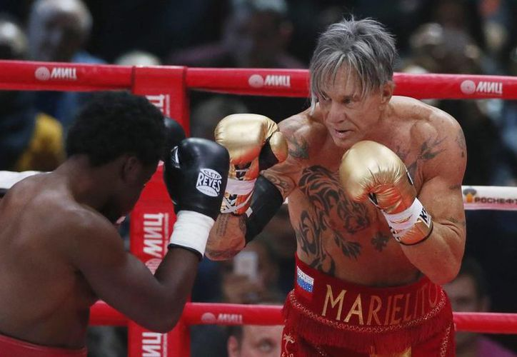 Elliot Seymour recibió 15 mil dólares para no golpear a Mickey Rourke, quien lo 'noqueó'. (boxeo360.com/Foto de archivo)