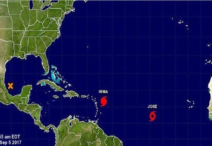 José es la décima tormenta tropical de la temporada. (Servicio Meteorológico Nacional  de Estados Unidos).