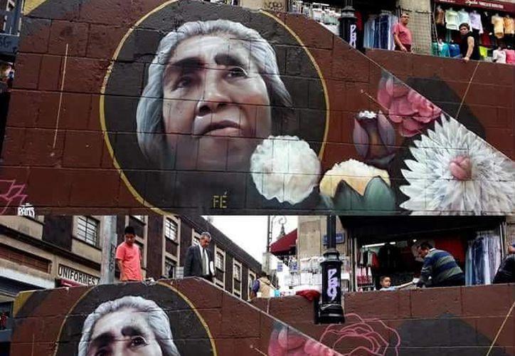 Imagen de uno de los trabajos de Ramsteko para el barrio de la santísima en la Ciudad de México. (www.facebook.com/ramsteko)