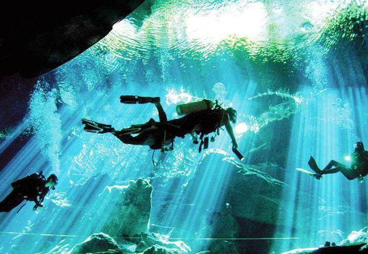 Muchas personas llegan a Yucatán para tomar instrucciones sobre actividades acuáticas como el buceo en cenotes. (Milenio Novedades)