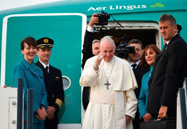 El Papa Francisco visitó Dublín el fin de semana pasado. (vanguardia.com)