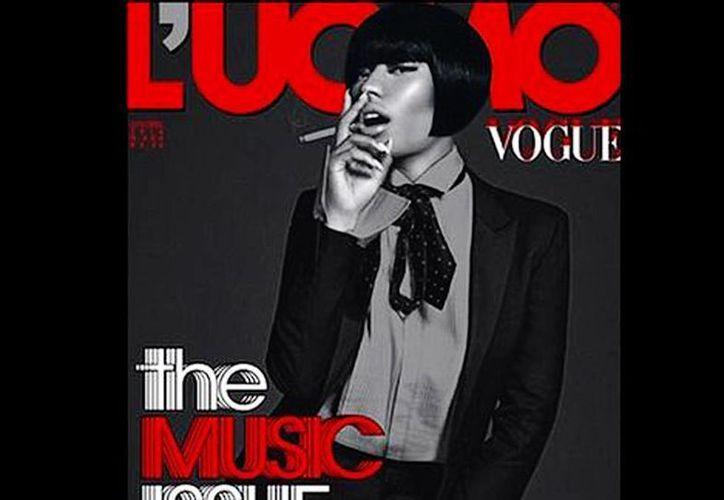 Así lució Nicki Minaj para la portada de la revista L'Uomo Vogue. (L'Uomo Vogue/Mielnio)
