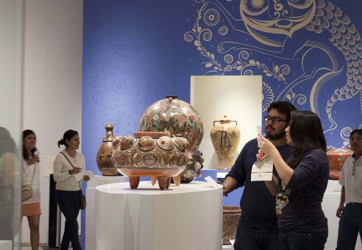 La exposición, del occidente del país, consta de 180 piezas de cerámica únicas procedentes de tres museos. (Milenio Novedades)