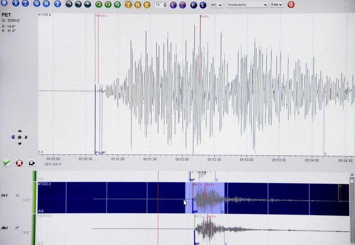 Gráfico que muestra la curva sismológica de un terremoto en Japón. (Archivo/EFE)