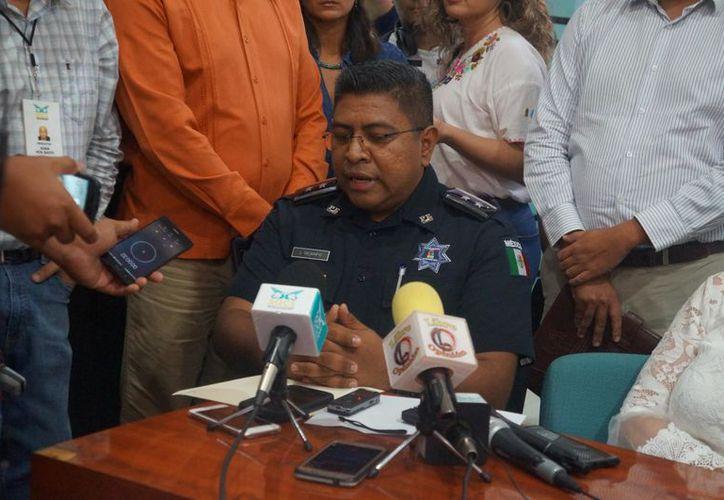 Jorge Alejandro Ocampo Galindo, comisionado de la PEP informó que los elementos involucrados en la detención del agresor de APN han sido suspendidos. (Daniel Tejada/SIPSE)