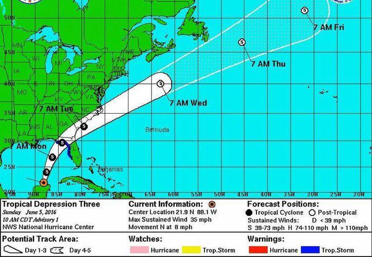 De acuerdo a la imagen de satélite, se observa una mejor organización, así como una circulación ciclónica para su desarrollo a un ciclón tropical. (Cortesía/SIPSE)