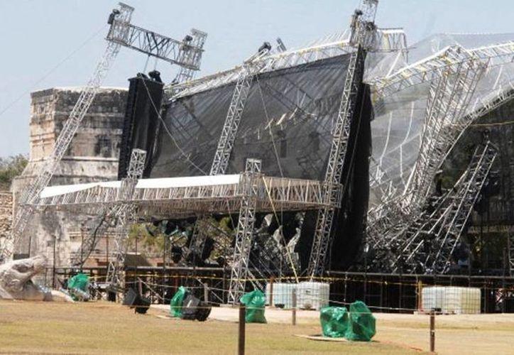 Hay quienes aseguran que el derrumbe en Chichén Itzá fue propiciado por los aluxes porque no se hizo el ritual pidiéndoles permiso. (Jorge Moreno/SIPSE)