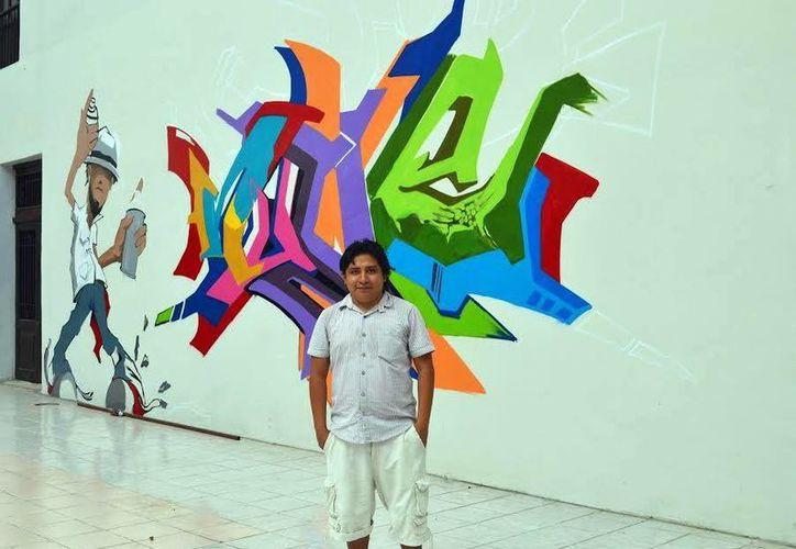 """Alejandro Cetina """"Nookye"""" ya expuso sus trabajos en Quintana Roo, Campeche, Yucatán y DF. (Milenio Novedades)"""