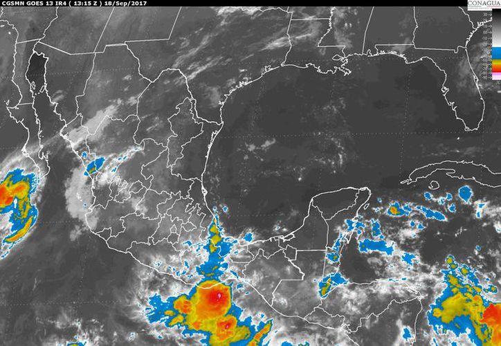 Existe un 80% de potencial de tormentas puntuales fuertes para la Península de Yucatán. (Servicio Meteorológico Nacional).
