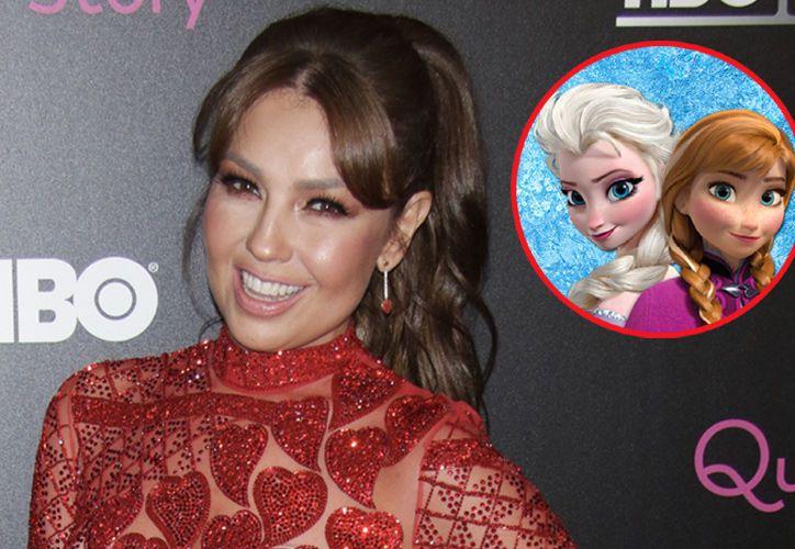 """Thalía cambia la letra de """"Let it Go"""" de Frozen. (Televisa Espectáculos)."""