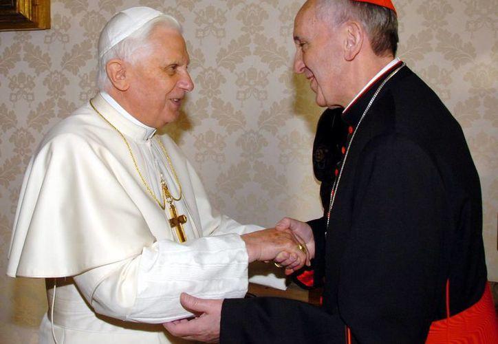 Benedicto XVI, Papa emérito y su sucesor, Francisco I. (Archivo/Agencias)