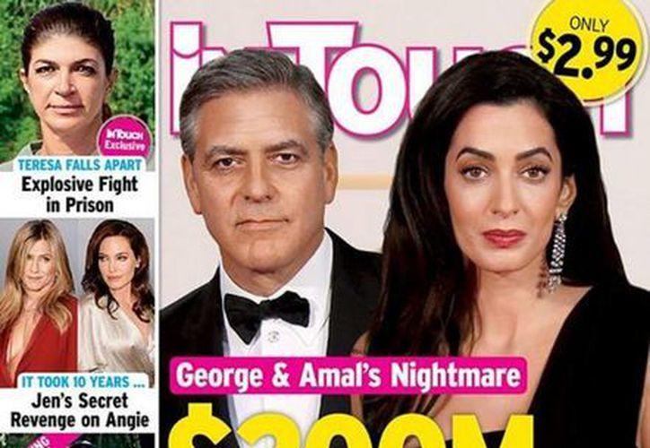 Portada de la revista que prácticamente anuncia el divorcio de George Clooney y Amal Alamuddin, quienes se casaron apenas hace 4 meses. (candiest.com)