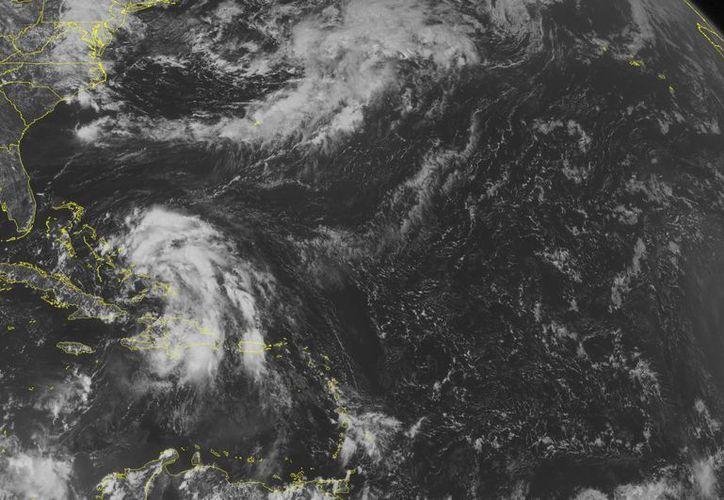 Imagen de satélite del Centro Nacional de huracanes, que muestra el desplazamiento de la tormenta tropical 'Cristóbal' en el caribe. (NOAA)