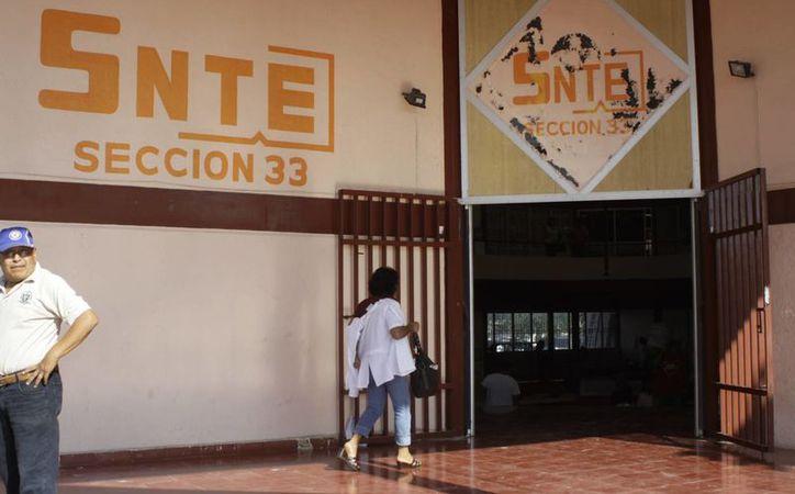La Sección 33 del SNTE creará hoy el Fideicomiso del Magisterio Agremiado. (SIPSE)