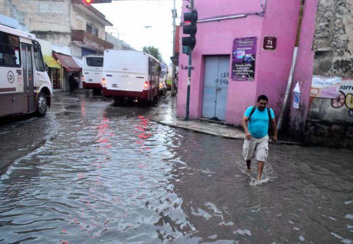 La lluvia generó inundaciones en diversas partes del Estado, principalmente en la capital. (SIPSE)