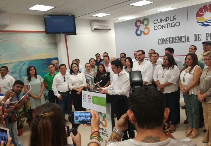Remberto Estrada, en conferencia de prensa. (Verónica Fajardo/ SIPSE)