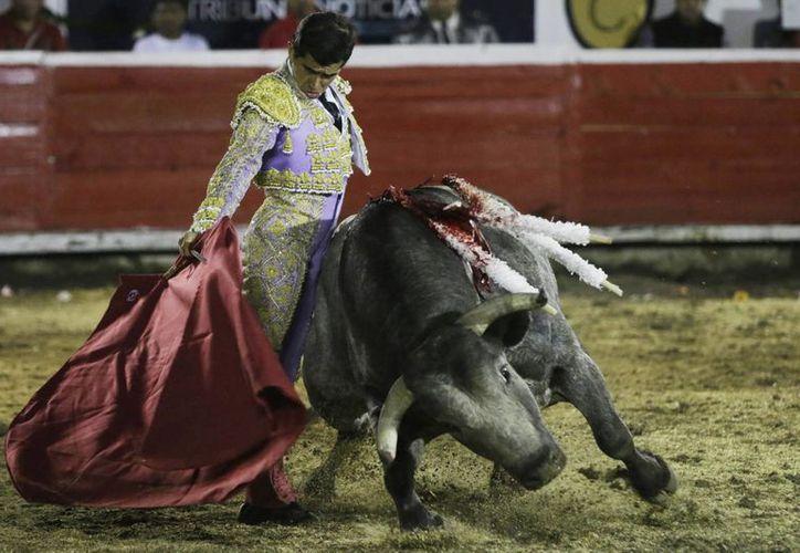 Las corridas de toros no podrán volver a la lista del patrimonio cultural galo. Imagen de contexto del torero mexicano Joselito Adame en la Plaza de Toros El Relicario de Puebla. (Notimex)