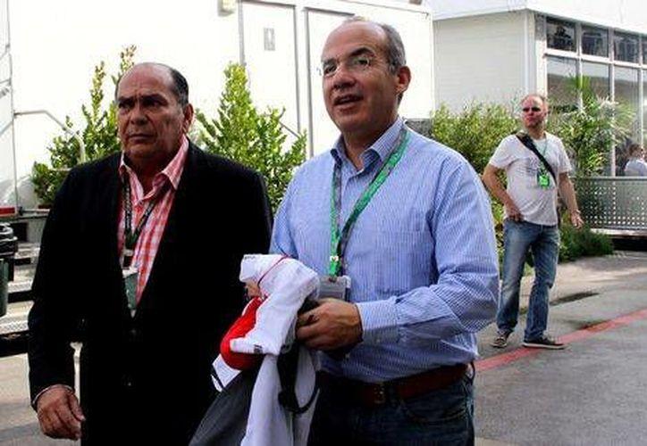 El exmandatario fue invitado a la carrera por la escudería Sauber. (Milenio)
