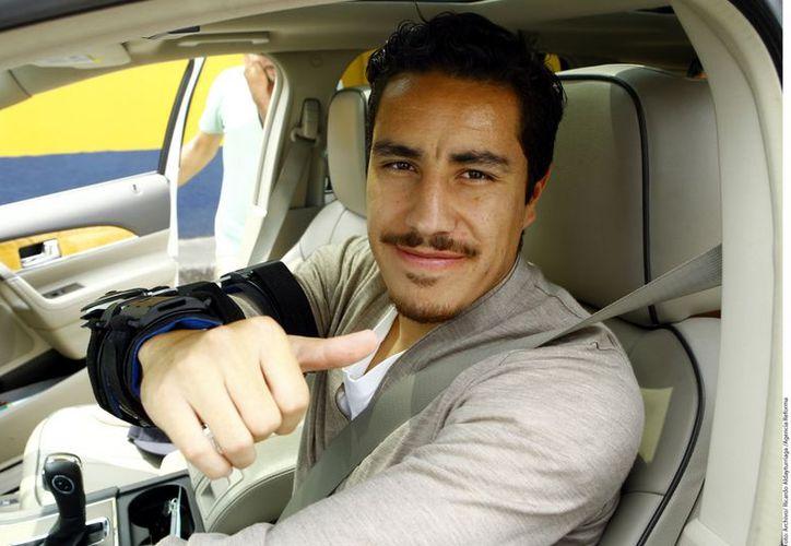 Juárez se zafó el codo el 22 de agosto y a partir de ahí ya no pudo ganarse un sitio en el 11 inicial de Herrera. (Agencia Reforma)