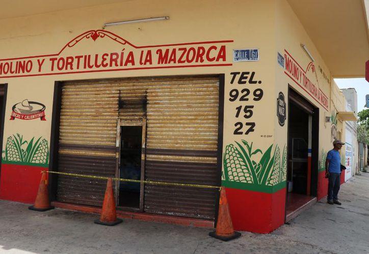 """El molino y tortillería """"La mazorca"""", está ubicado en la calle 61 por 28, de la colonia Esperanza de esta ciudad. (SIPSE)"""