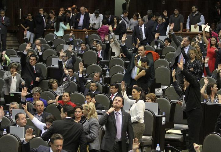 Aspecto de la sesión de este martes en el recinto legislativo de San Lázaro. (Notimex)