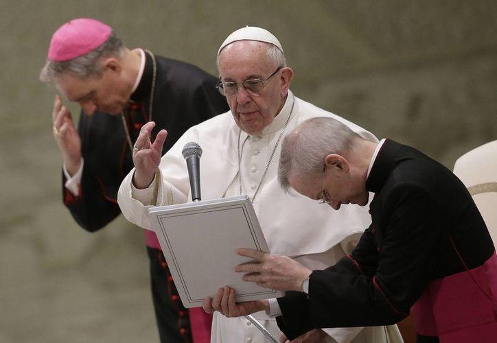 El papa Francisco envió un mensaje a los participantes de la 46° edición del Foro Económico Mundial que se realiza cada año en la ciudad suiza de Davos. (AP)