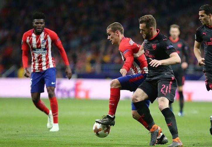 El Atlético le ganó por 1-0 al Arsenal gracias al gol de Diego Costa. (Twitter)