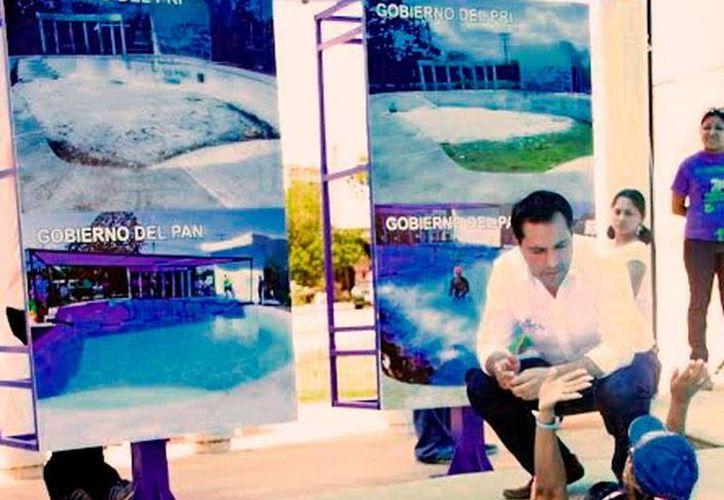 El candidato del PAN, Mauricio Vila Dosal, visitó el Centro de Desarrollo Comunitario Renacimiento. (Milenio Novedades)