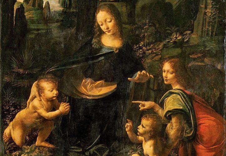 'La Virgen de las Rocas', cuadro de Leonardo da Vinci, ocultaba un perro que denuncia simbólicamente la corrupción de la Iglesia. (lemiaunoir.com)