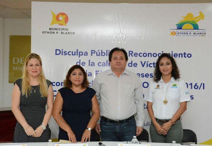 La agraviada aceptó la disculpa y agradeció el cumplimiento a la recomendación emitida por los Derechos Humanos. (Joel Zamora/SIPSE)